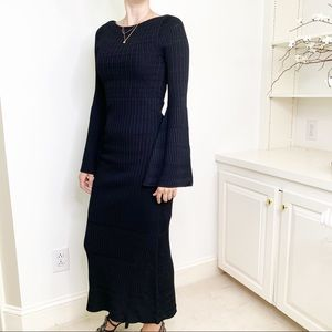 Anthropologie Foxiedox Bell Sleeve Knit Midi Dress